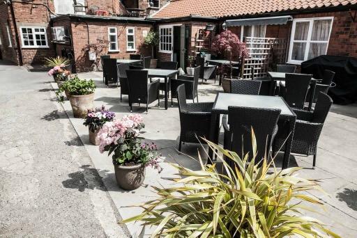 attractive patio area